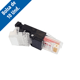 Conector RJ-45 UTP Cat.5e y 6 Tooless