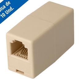 Adaptador RJ11 Hembra - Hembra Para Extensión Telefónica