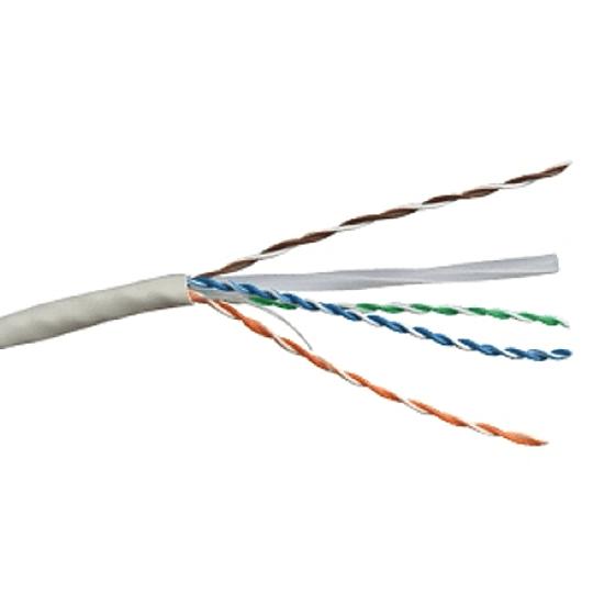 Cable  UTP eco 4 Pares CAT. 6 Unifilar Gris (305)
