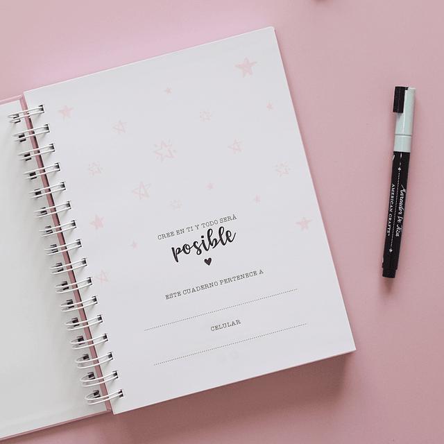 Cuaderno de cuadros pequeños personalizado
