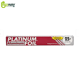 Papel Aluminio PLATINUM - 25Ft