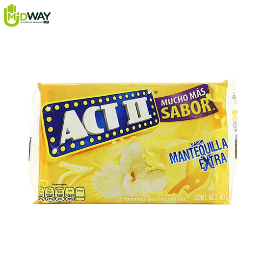 Pop Corn ACT II Extra Mantequilla - 80g