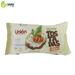 Tostadas Integrales UNION 10 U - 150g