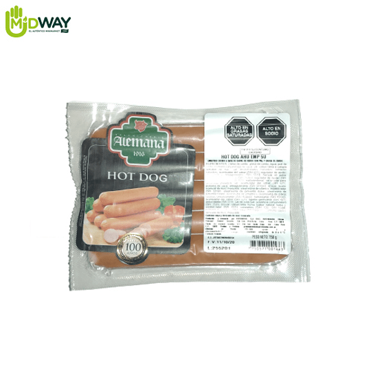 Hot Dog Ahumado ALEMANA - 5U