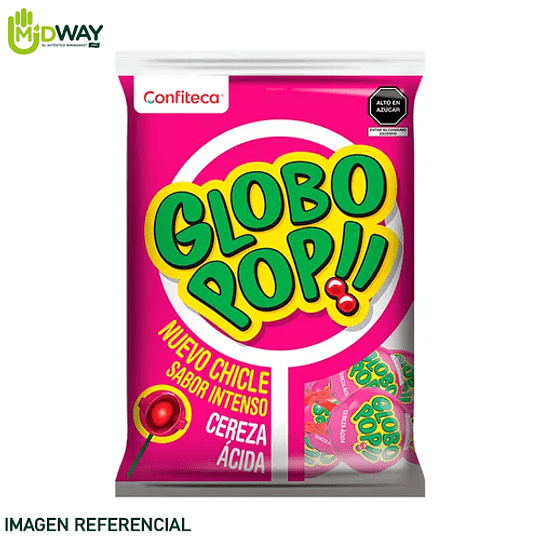 Chupetes GLOBO POP!! Cereza - 25U