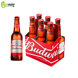 Cerveza BUDWEISER 343ml six pack - 6U