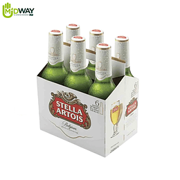 Cerveza STELLA ARTOIS 330ml six pack - 6U