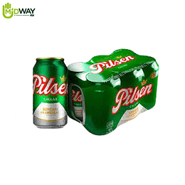 Cerveza PILSEN en lata 355ml six pack - 6U