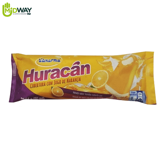 Helado HURACAN Orange - 80ml