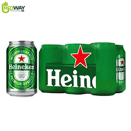 Cerveza HEINEKEN Lata Six Pack - 330ml