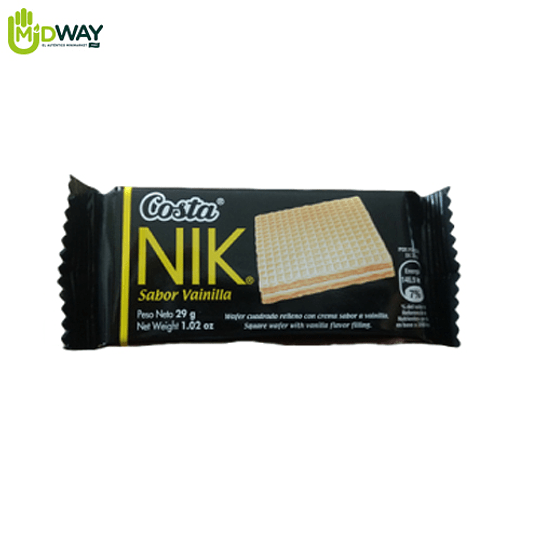 Wafer NIK Costa Vainilla - 29g