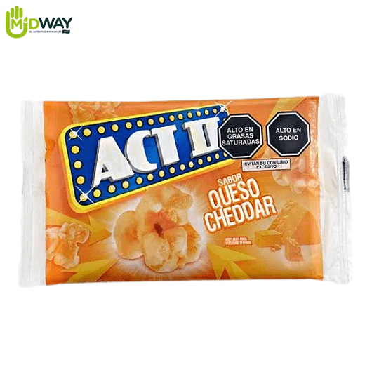 POP CORN ACT II EXTRA QUESO CHEDAR - 96g