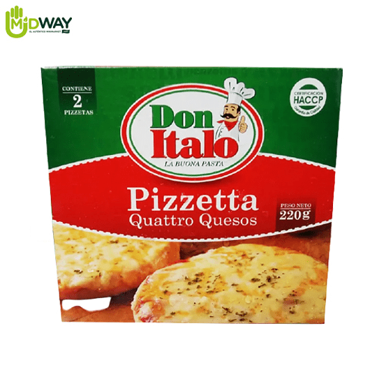 Pizzeta 4 Quesos DON ITALO - 2U