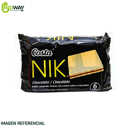 Wafer NIK Costa Chocolate Paquete 6U