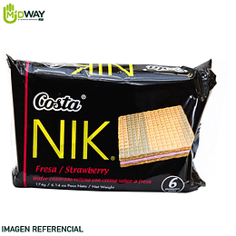 Wafer NIK Costa Fresa Paquete 6U
