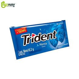 Chicle TRIDENT 6S Menta Suave - 10.2g