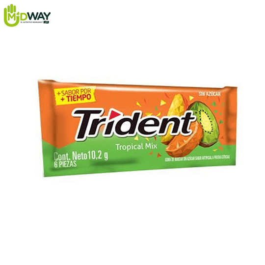 Chicle TRIDENT 6S Tropical Mix - 10.2g