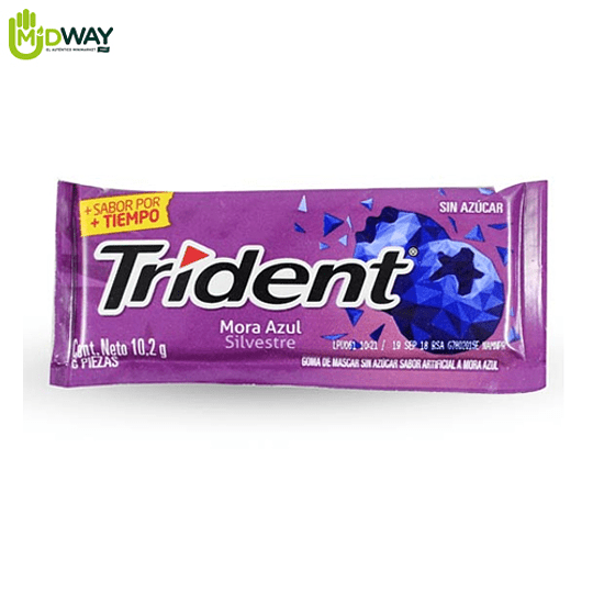 Chicle TRIDENT 6S Mora Azul - 10.2g