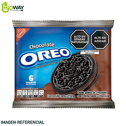 Galleta OREO Chocolate Paquete 6U