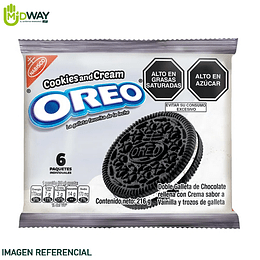 Galleta OREO Cookie and Cream Paquete 6U