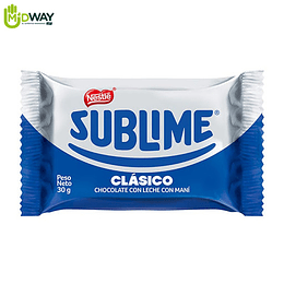 Chocolate NESTLE SUBLIME Clásico - 30g