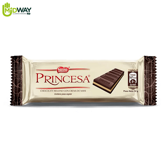 Chocolate NESTLE PRINCESA Barra - 30g