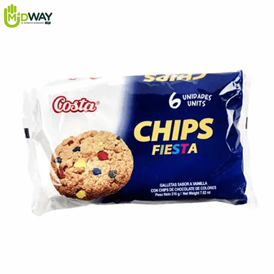 Galleta Chips Fiesta Costa Paquete 6U