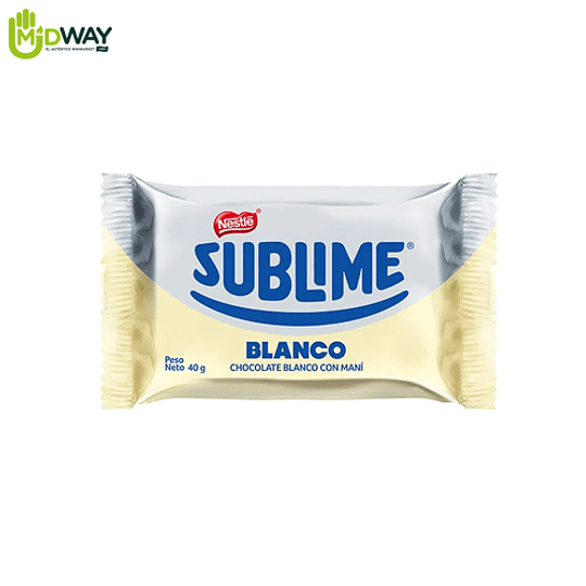 Chocolate NESTLE SUBLIME Blanco - 40g