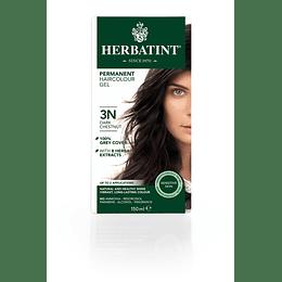 3N Castaño Oscuro Tintura De Pelo Sin Amoniaco con Aloe Vera Herbatint