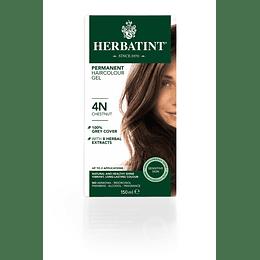 4N Castaño Tintura De Pelo Sin Amoniaco con Aloe Vera Herbatint