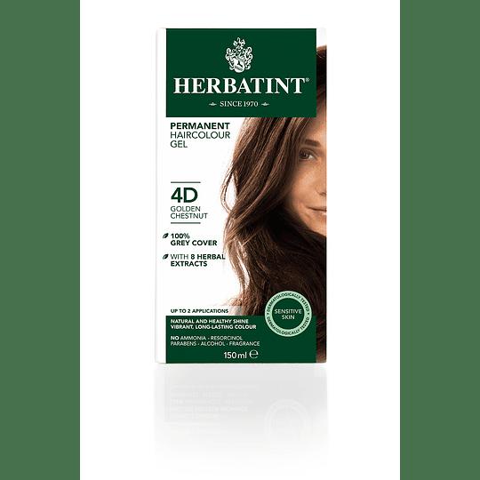 4D Castaño Dorado - Tintura De Pelo Sin Amoniaco con Aloe Vera Herbatint