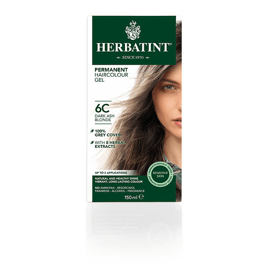 6C Tintura De Pelo Sin Amoniaco con Aloe Vera Herbatint