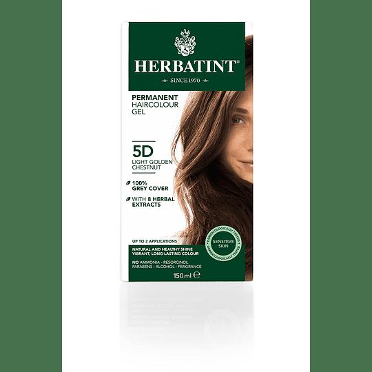 5D Tintura De Pelo Sin Amoniaco con Aloe Vera Herbatint