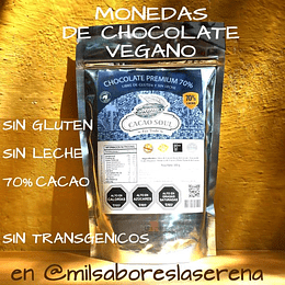 Chips Chocolate 70% S/Leche S/Gluten Cacao Soul 500g