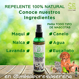 Repelente Vegetal Contra Pulgas Para Mascotas, 120ml Clean Vet