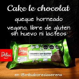 Dilici, Cake De Chocolat, Vegano, Sin Gluten, Sin Lácteos, Sin Huevo, 300 G - 6 Porciones