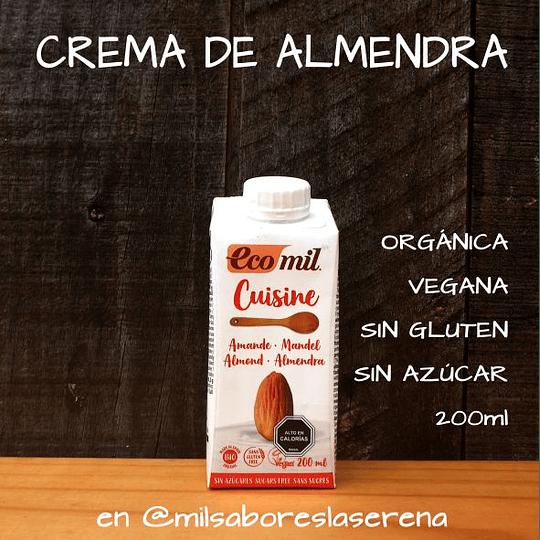 Crema De Almendra, Ecomil Cuisine 200ml
