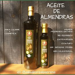 Aceite De Almendras, 250 ml, Extra Virgen, First Cold Pressed, Sin Colesterol, S