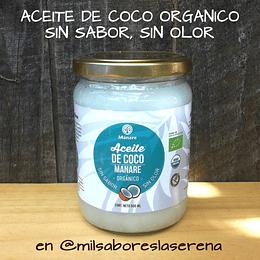 Aceite De Coco Orgánico Manare 500ml, Sin Sabor