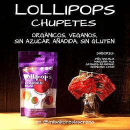 Lollipops Koochikoo, 10 Un, Orgánicos, Veganos, Sin Azúcar