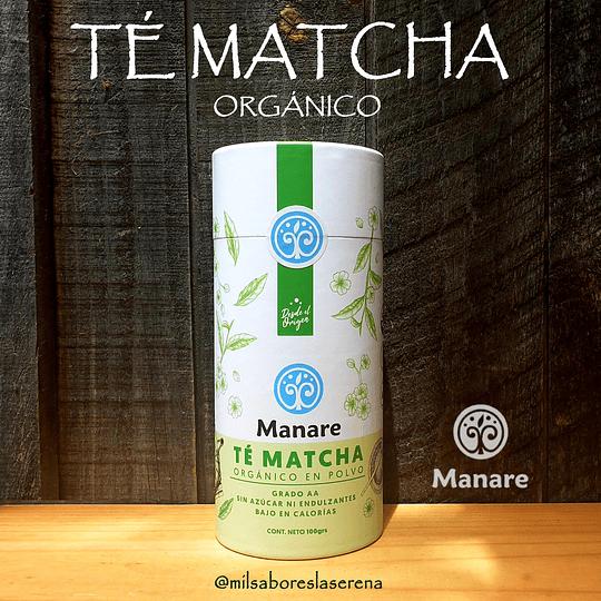 Te Matcha En Polvo Organico, 100g, Manare