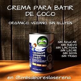 Crema Para Batir De Coco, Naturescharm, 400ml, Leche De Coco
