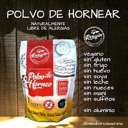 Polvo De Hornear, 400g, Sin Gluten, Sin Aluminio, Rengun