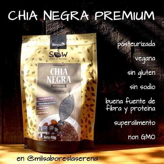 Chia Negra Premium, 500g, Sow