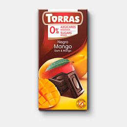 Chocolate Mango Torras, 52% Cacao, 75 g, Sin Azúcar, Sin Gluten