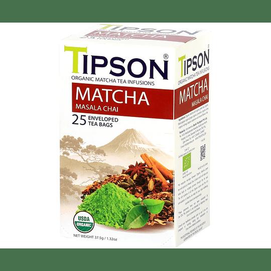 Tipson Matcha Masala Chai Orgánico 25 Bolsitas