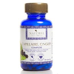 Capillaire Ongles - ¡Cabello y Uñas Fuertes! 60Caps, Naturel Organic