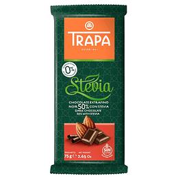 Chocolate Noir 50% con Stevia 75gr, Trapa
