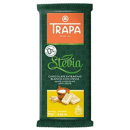 Chocolate Blanco con Stevia 75gr, Trapa