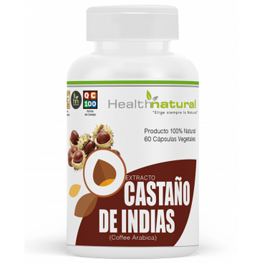Castaño de indias 60 cápsulas, suplemento, Health Natural